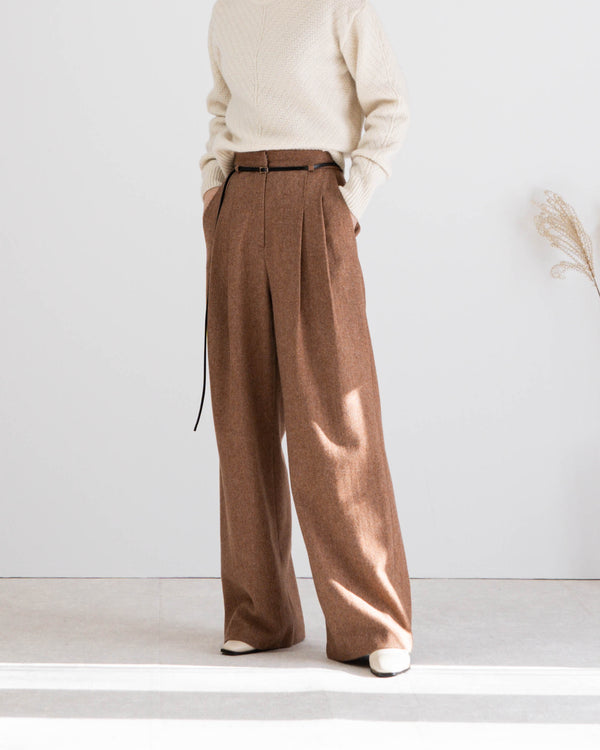 Sanna NY Tanne Belted Trousers Spice