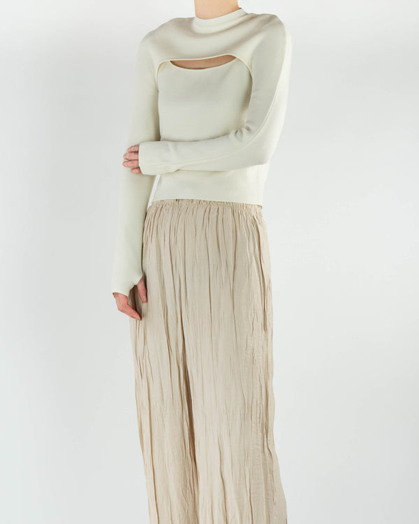 Two Piece Ivory Knit Top
