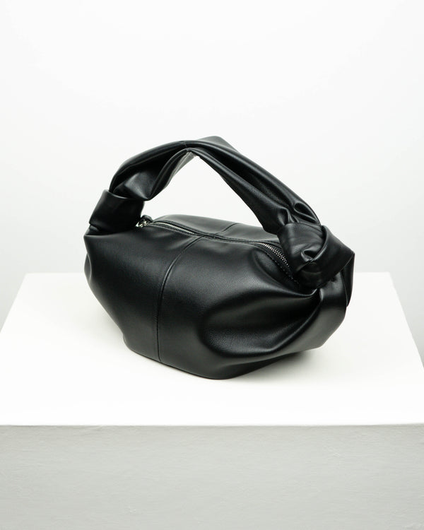 SANNA KNOTTED TIE LEATHER BAG