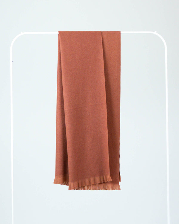 Silk Blend Soft Scarf Burnt Orange