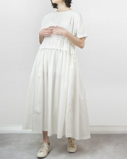 Beck Pleated Dress Ivory