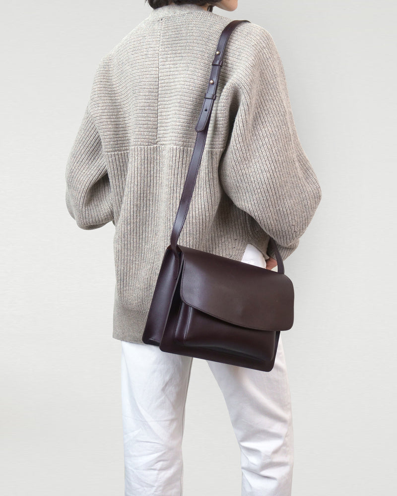 Leather Foldover Satchel