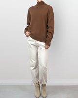 Rust Cashmere Blend Turtleneck