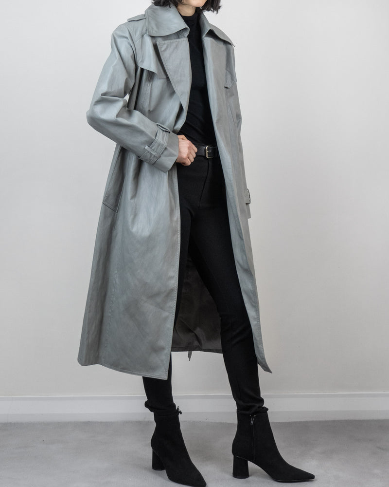 Sanna NY Ansel Vegan Leather Trench