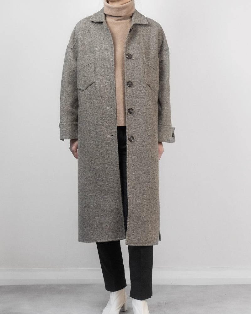 Herringbone Overcoat