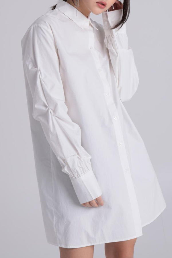 Hanna Pintuck Sleeve Shirt