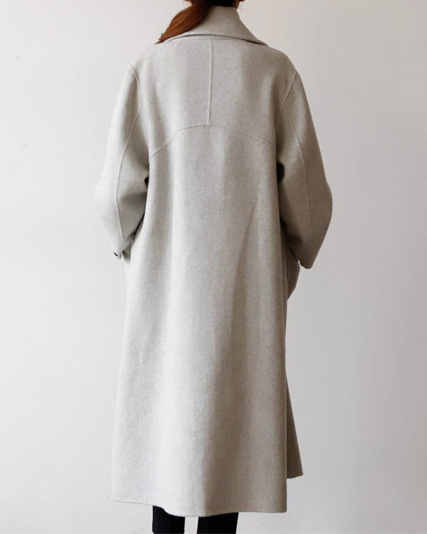 Rowe Overcoat Light Grey
