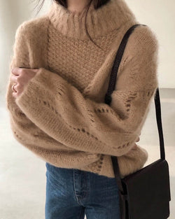 JOJI BRUSHED ALPACA KNIT