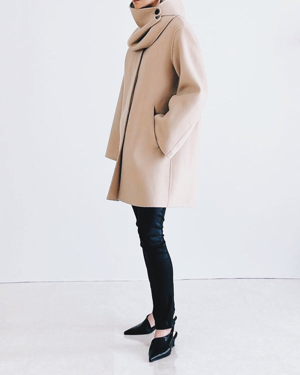 Scarf Wool coat