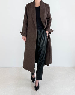 Sanna NY Tailored Herringbone Coat