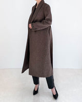 Tailored Hierringbone Wool Coat