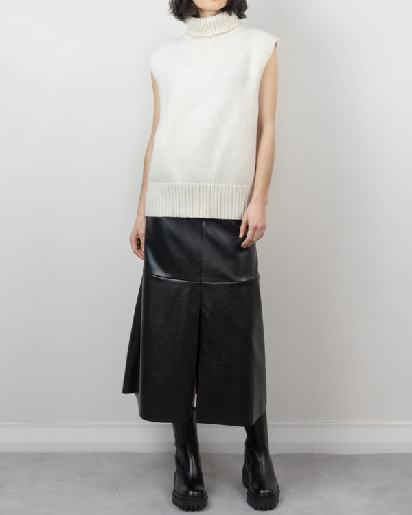 Sanna NY Sleeveless Cashmere Blend Turtleneck