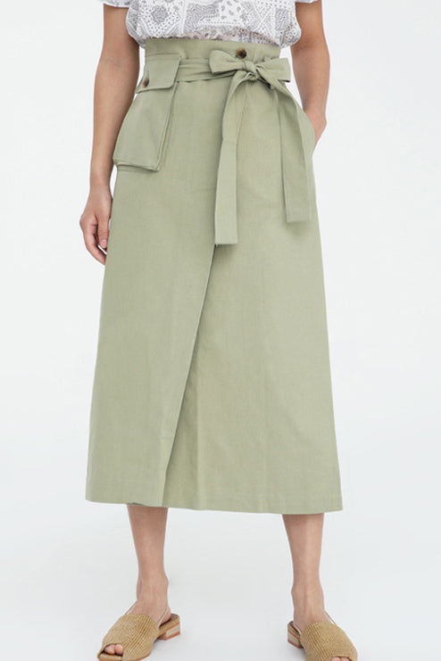 Keaton Pocket Wrap Skirt