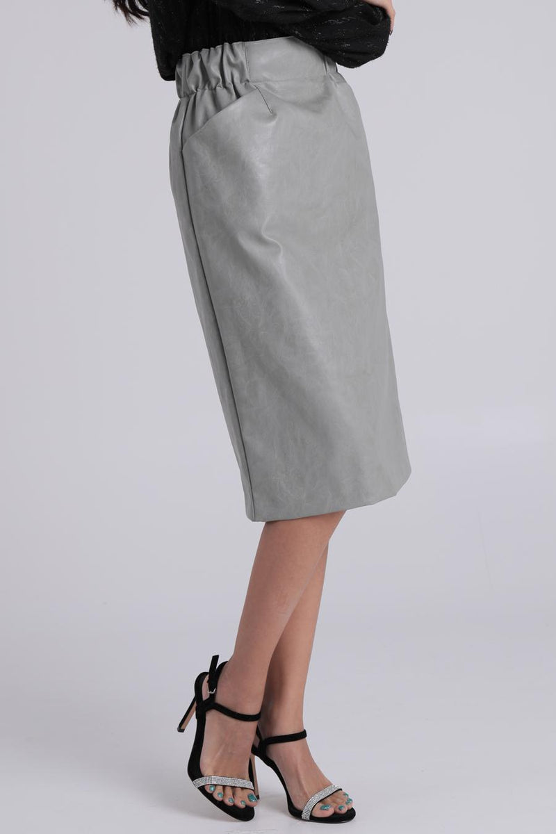 Gia Faux Leather Pencil Skirt