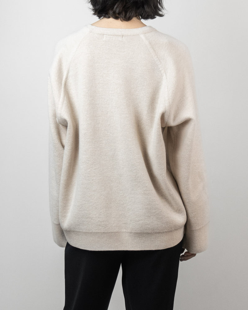 Oatmeal Cashmere Blend Crew
