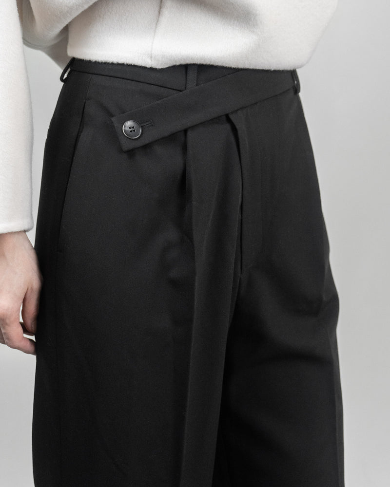 Overlap Straight Leg Trousers