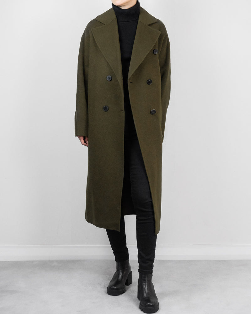 Riley Overcoat in Olive Green