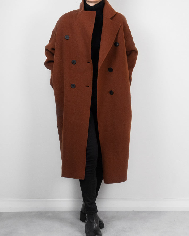 Sanna NY Riley Overcoat in Rust