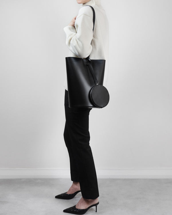 Structured Bucket Bag