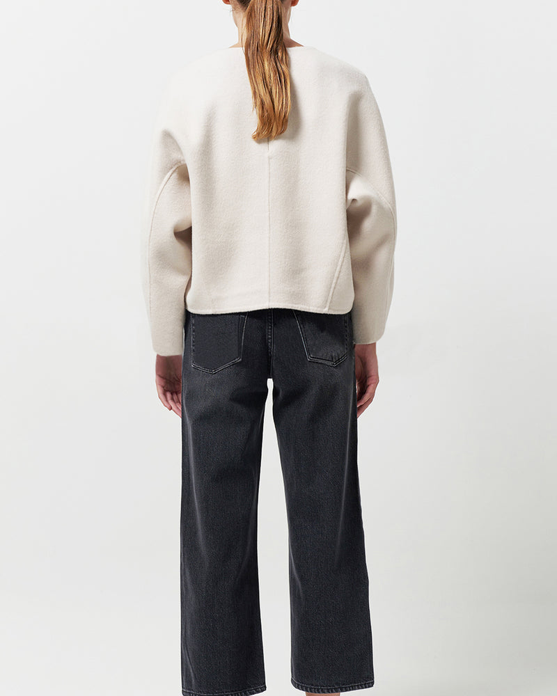 Structural Wool Ivory Top