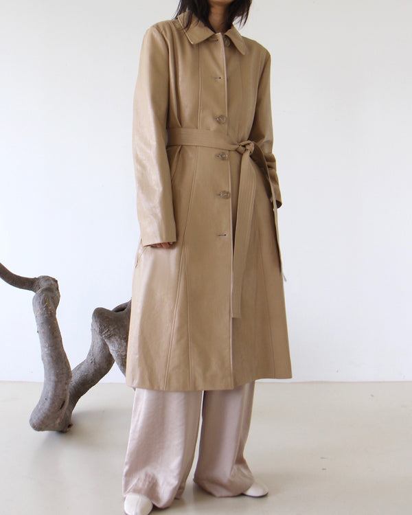 Single Vegan Leather Trench