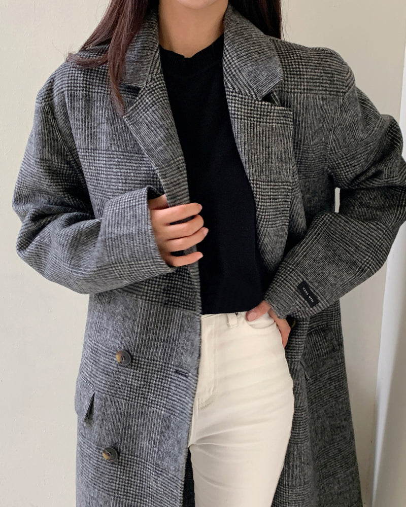 Herringbone Overcoat Charcoal