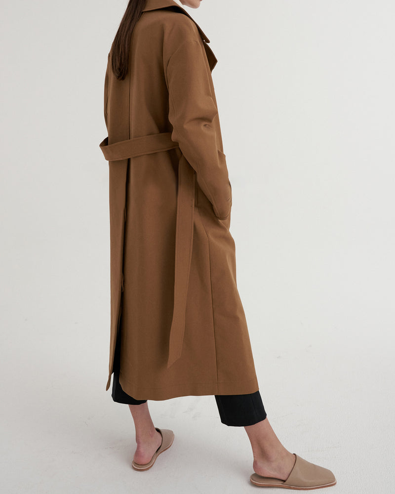 Alessa Trench Rust