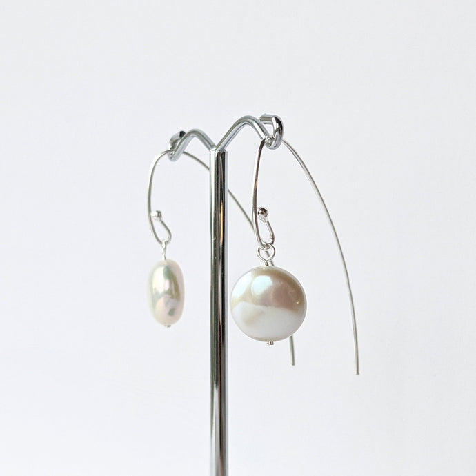 Long Pearl Hook Earrings
