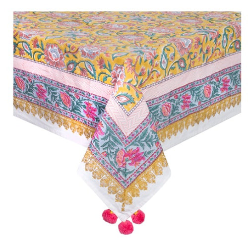 Printed Cotton Table Cloth - Sunshine