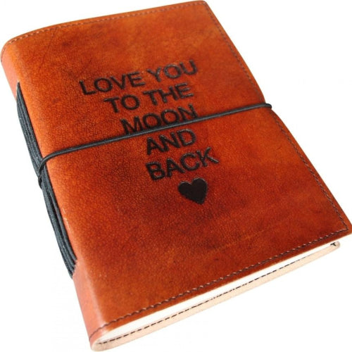 Notebook Leather - Love You To The Moon and Back