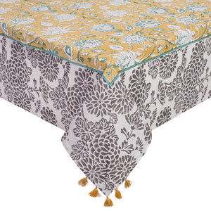 Printed Cotton Table Cloth - Jaune
