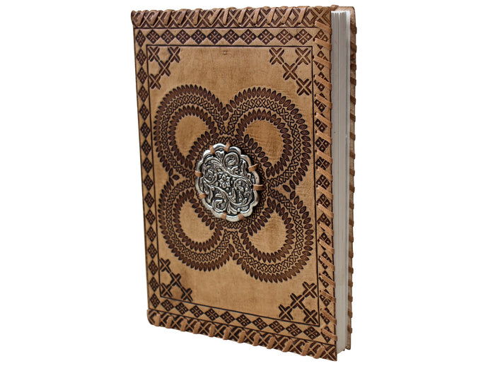 Notebook Leather Medal Asstd Colours