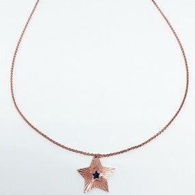 Star Diamond Cut Rose Gold Necklace