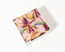 Load image into Gallery viewer, Coaster Glass Blush Palm Trees S/4