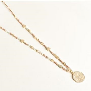 Necklace Cord Stone & Freshwater Pearl