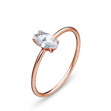 Load image into Gallery viewer, Ring with CZ Stone Rose Gold