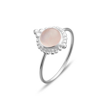 Load image into Gallery viewer, Detailed Rose Quartz Ring