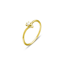 Load image into Gallery viewer, Gold Dainty Pearl Ring