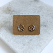 Load image into Gallery viewer, Wave Stud Earrings