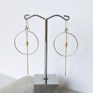 Gold and Silver Drop Earrings