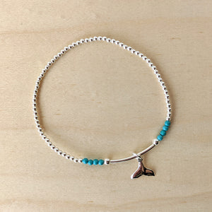 Whale Tail Turquoise Bracelet