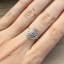 Load image into Gallery viewer, SS Filigree Flower Ring