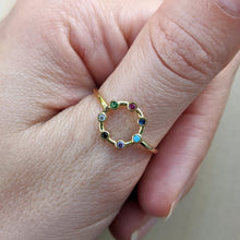 Load image into Gallery viewer, Coloured Stone Ring