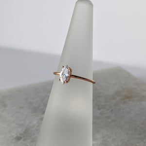 Ring with CZ Stone Rose Gold