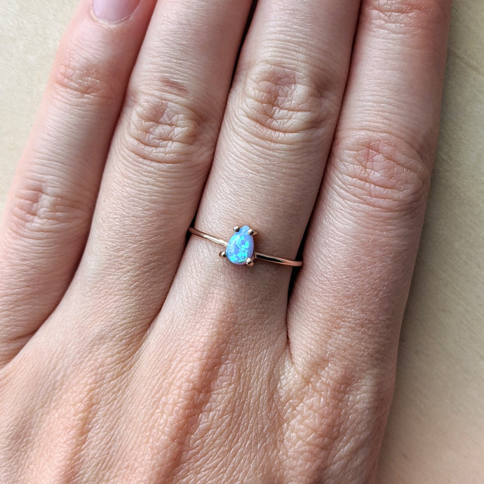 Rose Gold Opalite Ring