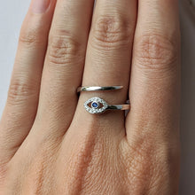Load image into Gallery viewer, Blue CZ Eye Ring