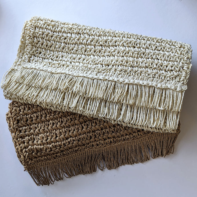 Table Runner Fringe - Rice Paper