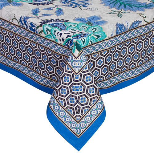 Printed Table Cloth - Sapphire