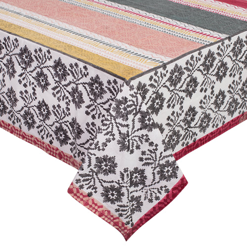 Printed Cotton Table Cloth - Cendre