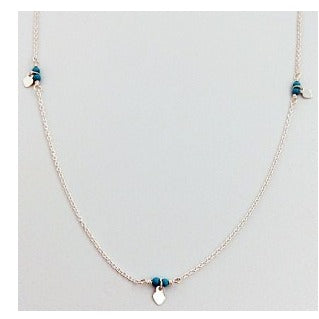 Turquoise Beads & Stars Necklace